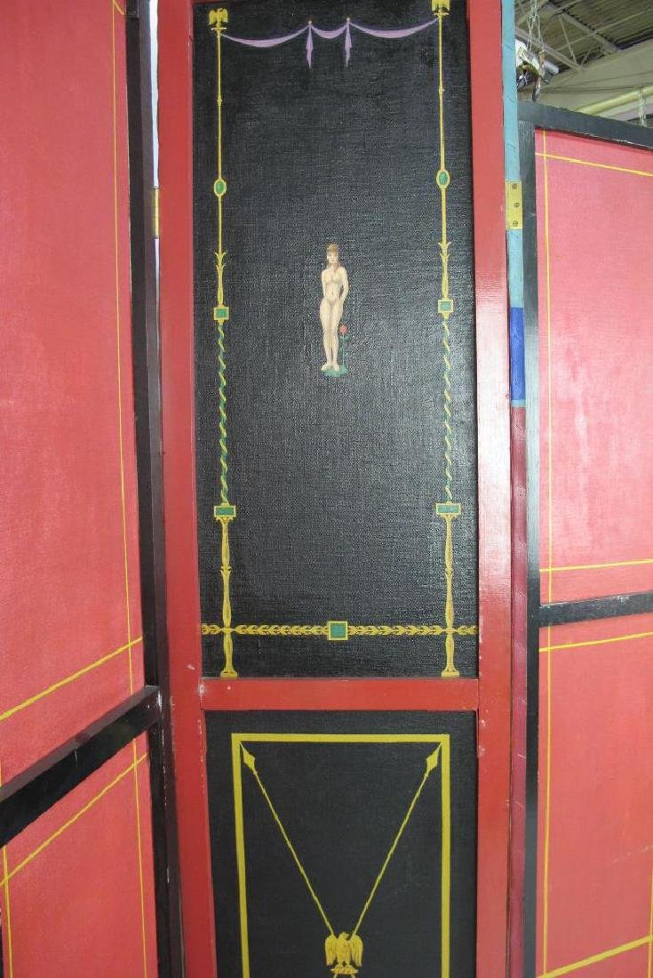 Hand Painted Roman Style Room Divider - 9