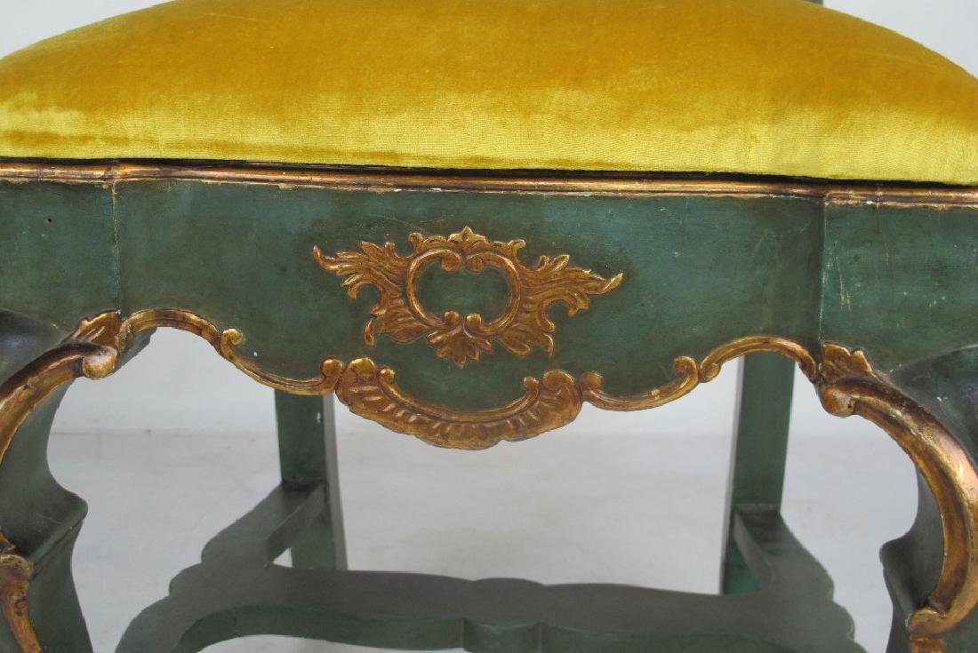 Pair 19th C. Continental Carved & Gilt Side Chairs - 5