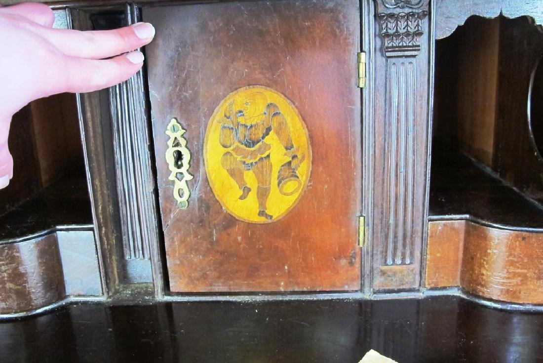 18th C. Mahogany Inlaid Slant Front Desk - 6