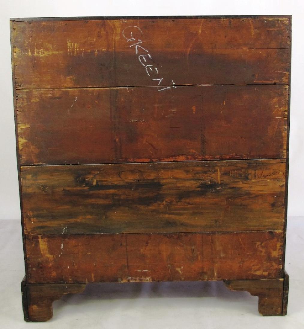 18th C. Mahogany Inlaid Slant Front Desk - 8