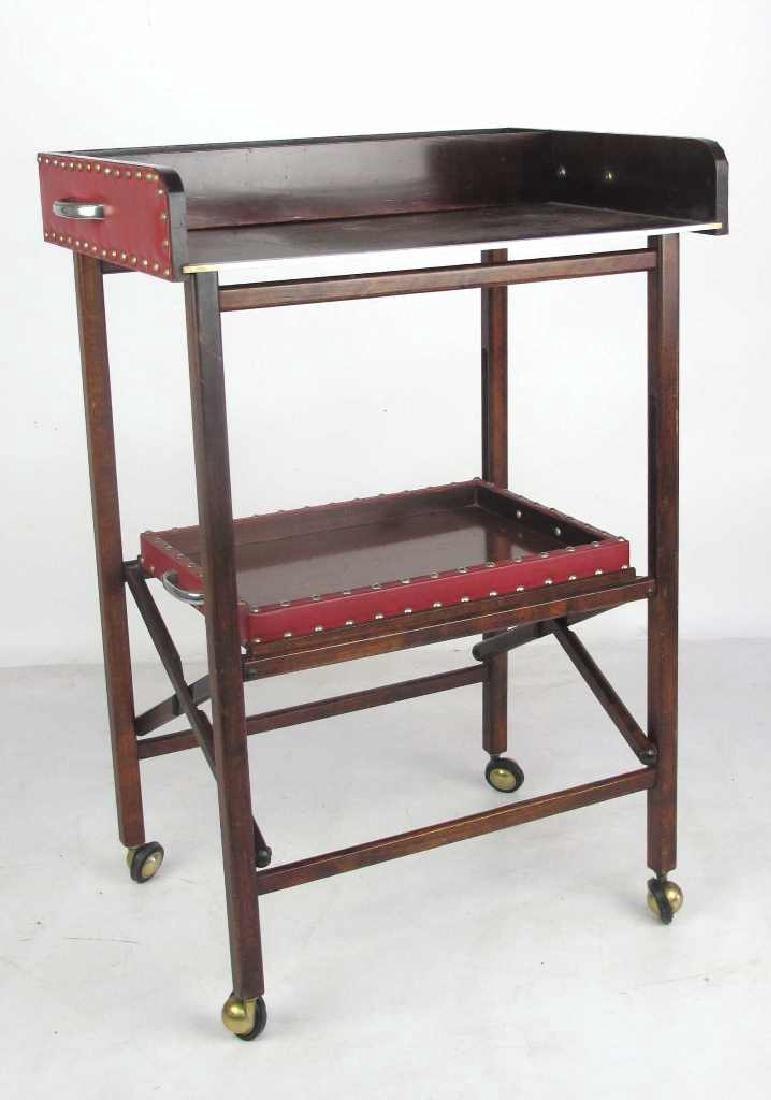 Mahogany Folding Bar Cart