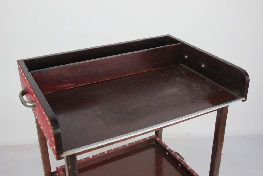 Mahogany Folding Bar Cart - 2