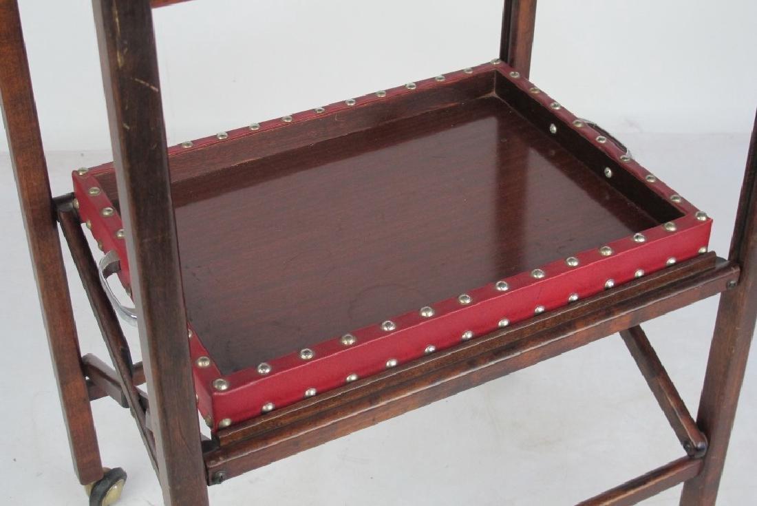 Mahogany Folding Bar Cart - 3