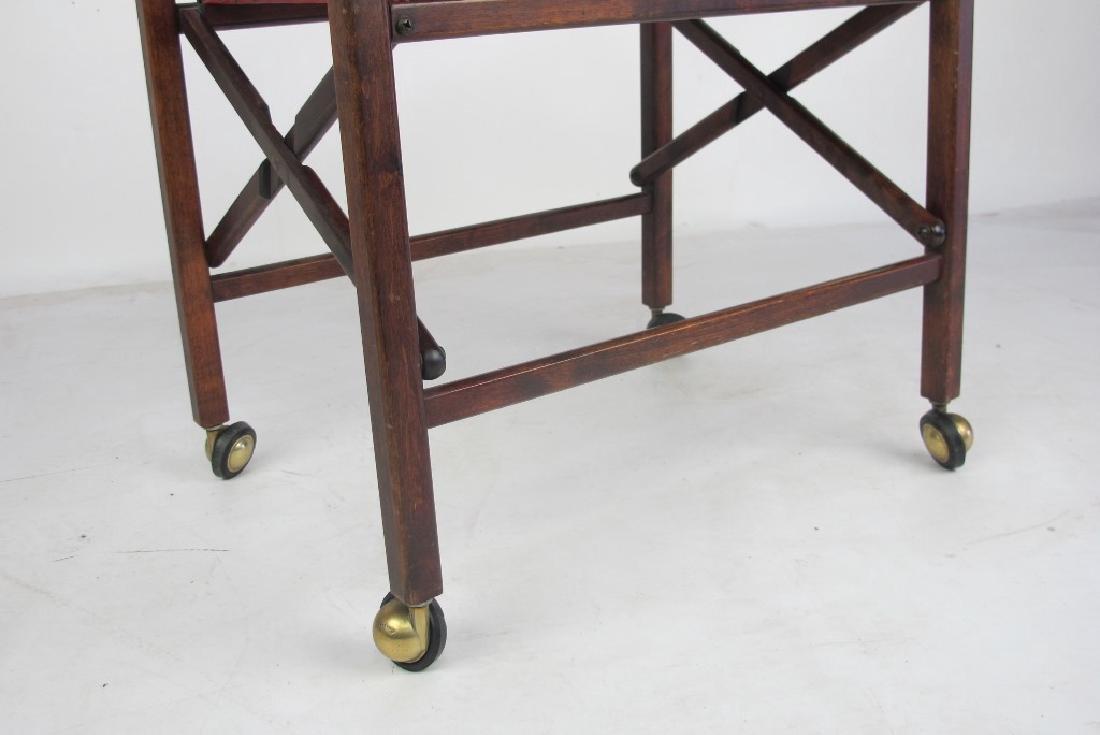 Mahogany Folding Bar Cart - 4