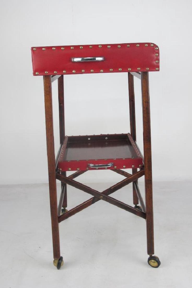 Mahogany Folding Bar Cart - 5