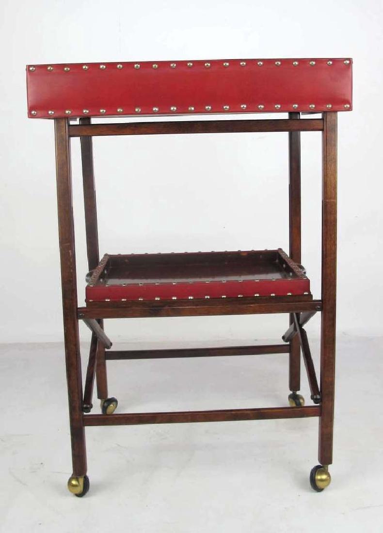Mahogany Folding Bar Cart - 7