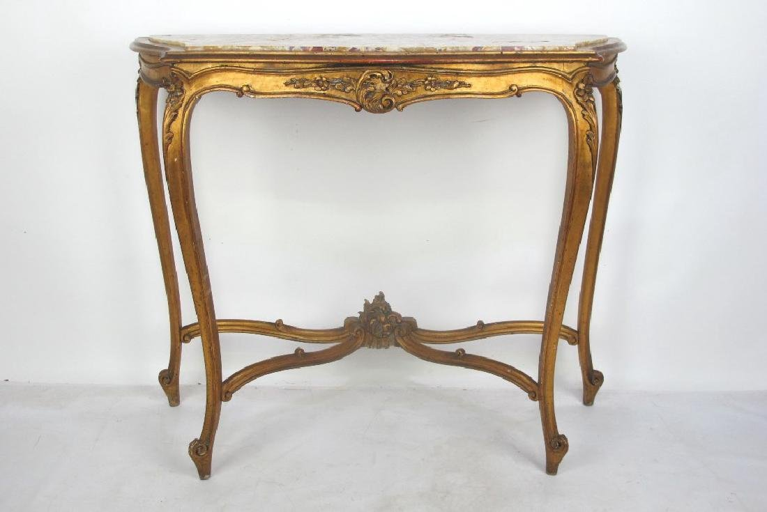 19th C. French Giltwood Console