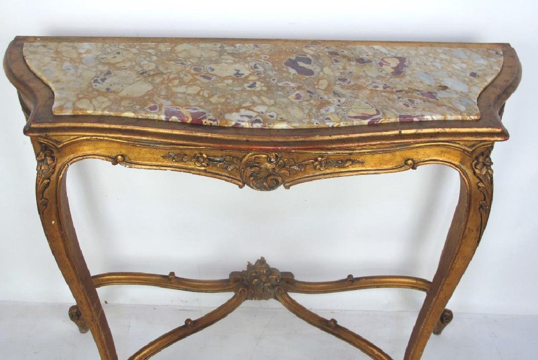 19th C. French Giltwood Console - 2