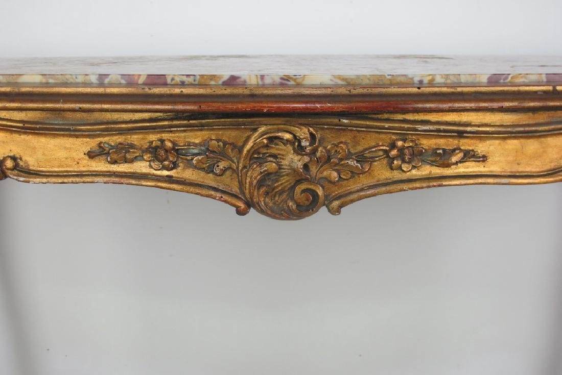 19th C. French Giltwood Console - 4
