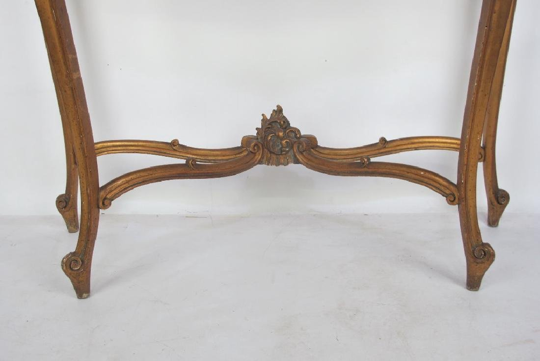 19th C. French Giltwood Console - 5