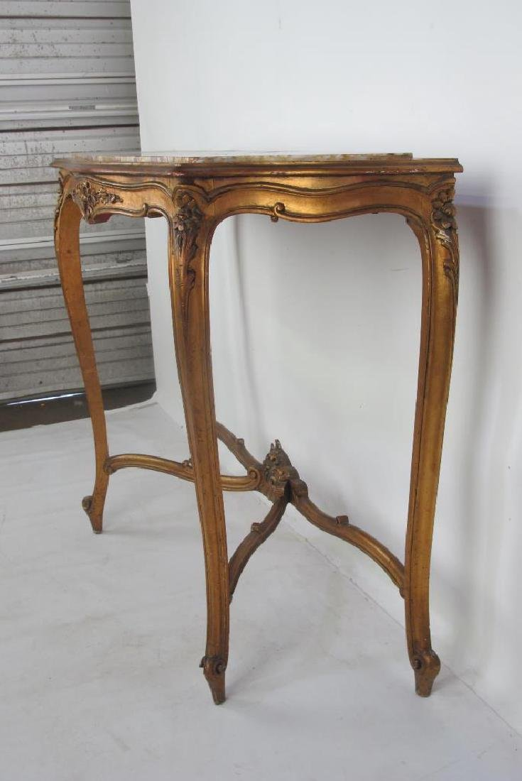 19th C. French Giltwood Console - 6