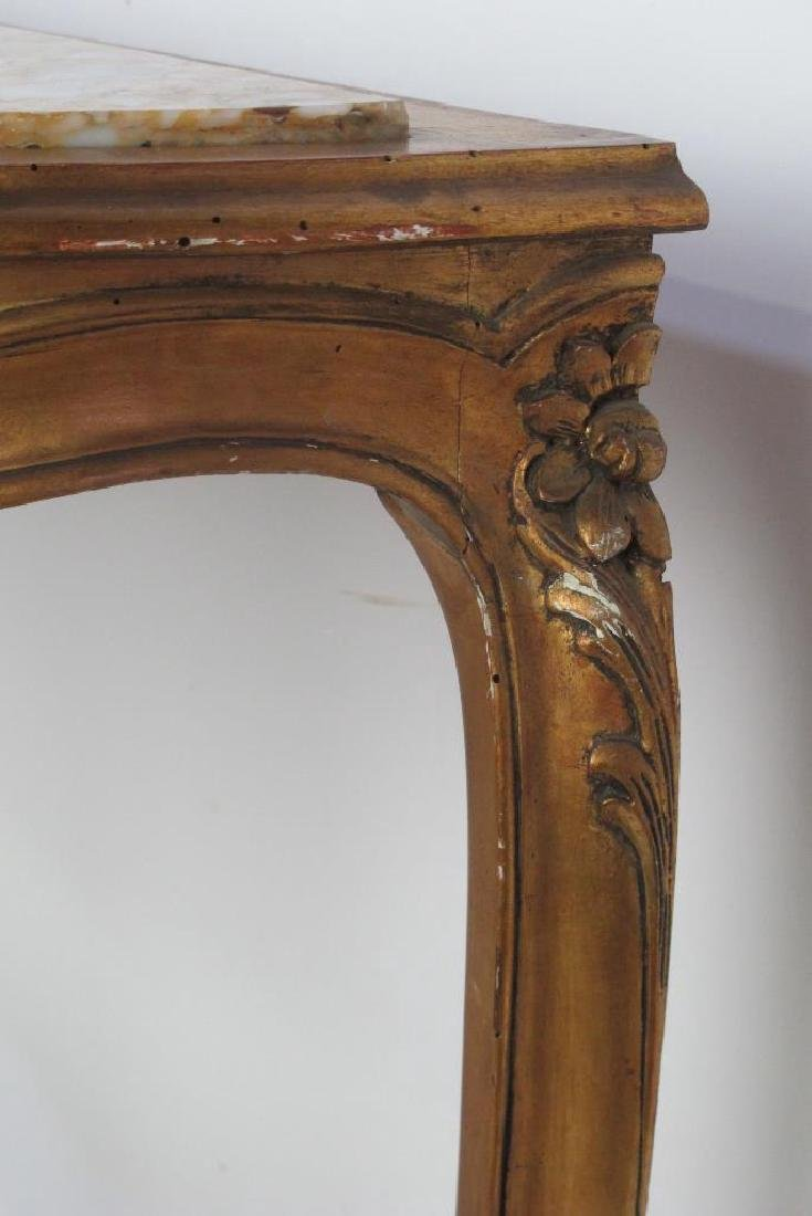 19th C. French Giltwood Console - 7