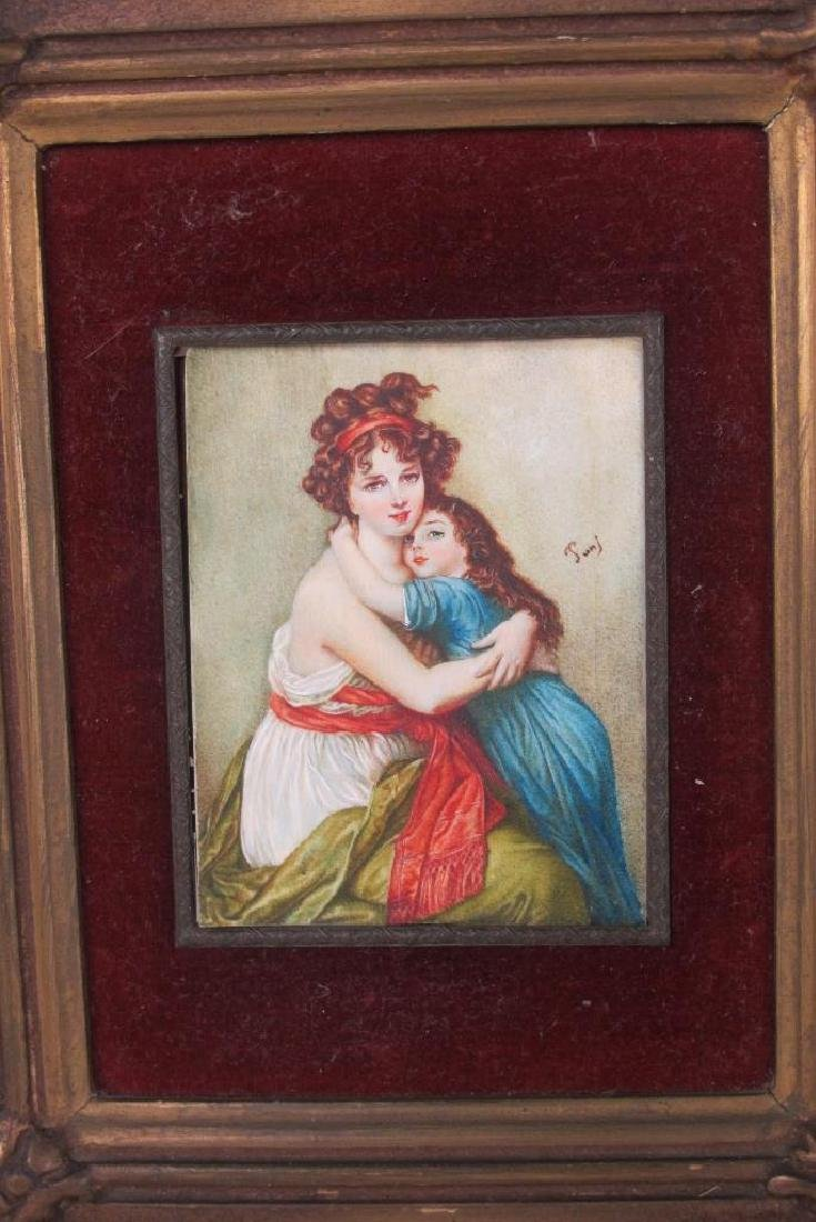 Group of Miniature Paintings, Porcelain Etc - 4
