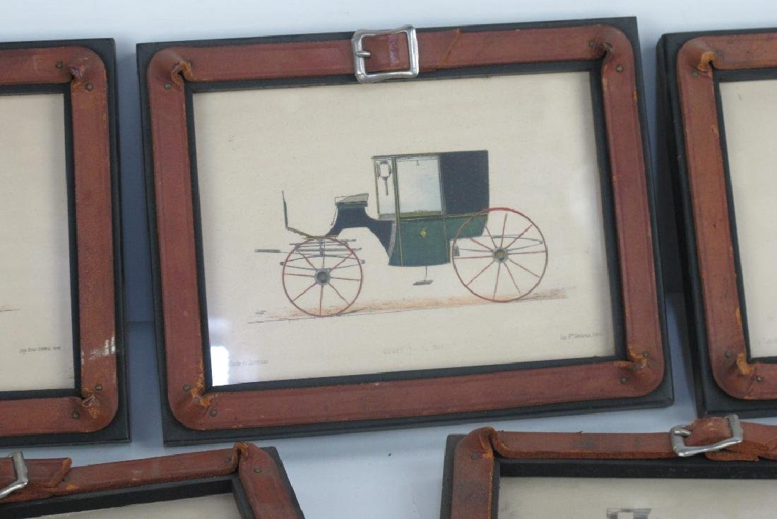 Six Framed Antique Prints of Early Automobiles - 2
