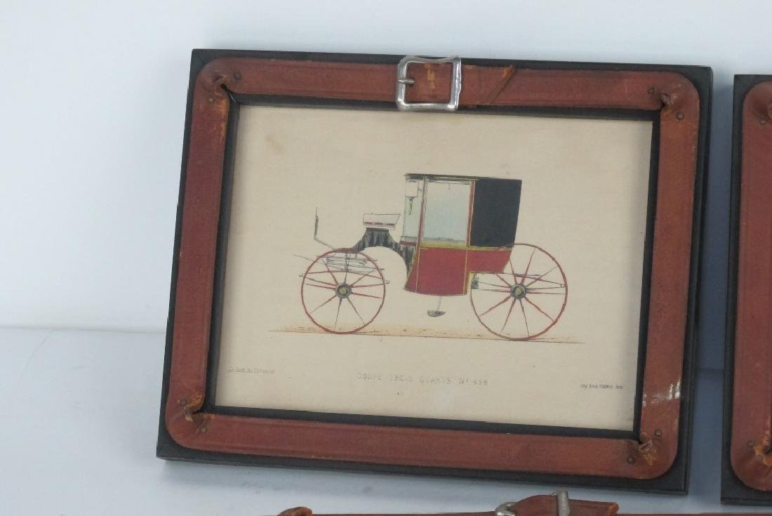 Six Framed Antique Prints of Early Automobiles - 3