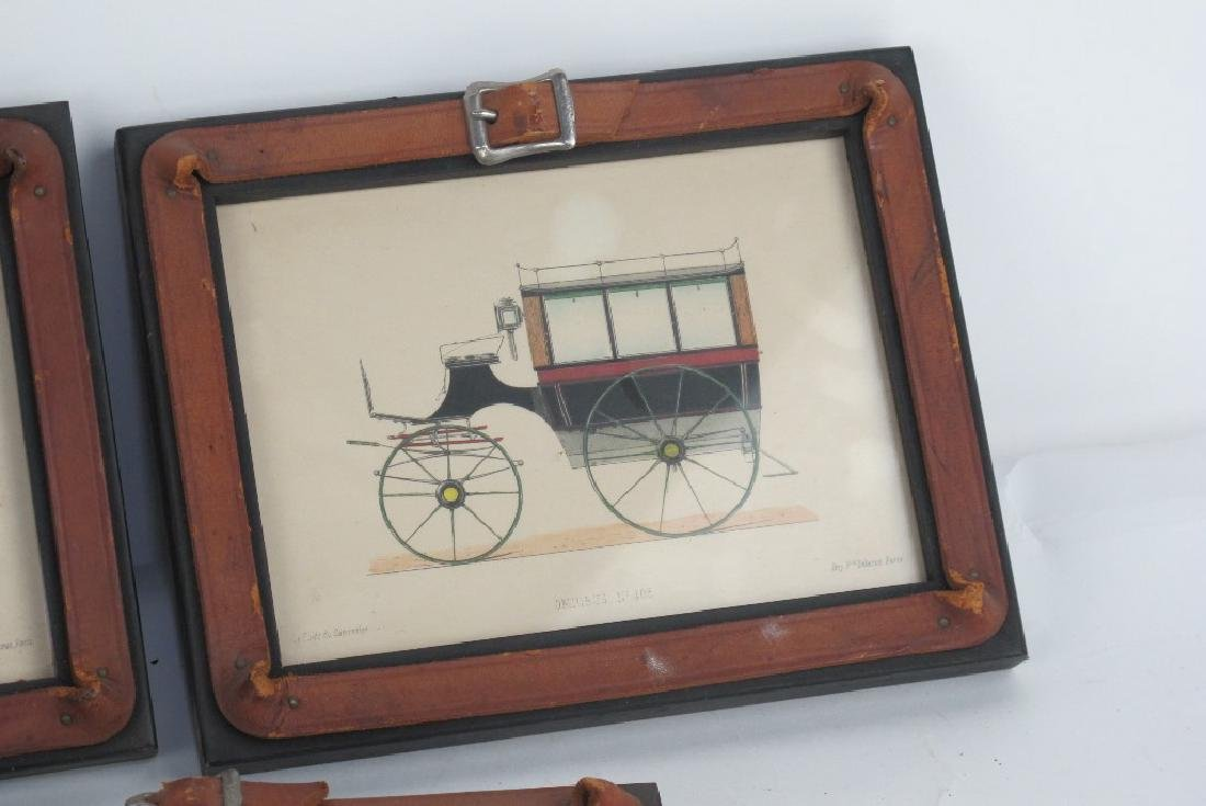 Six Framed Antique Prints of Early Automobiles - 4