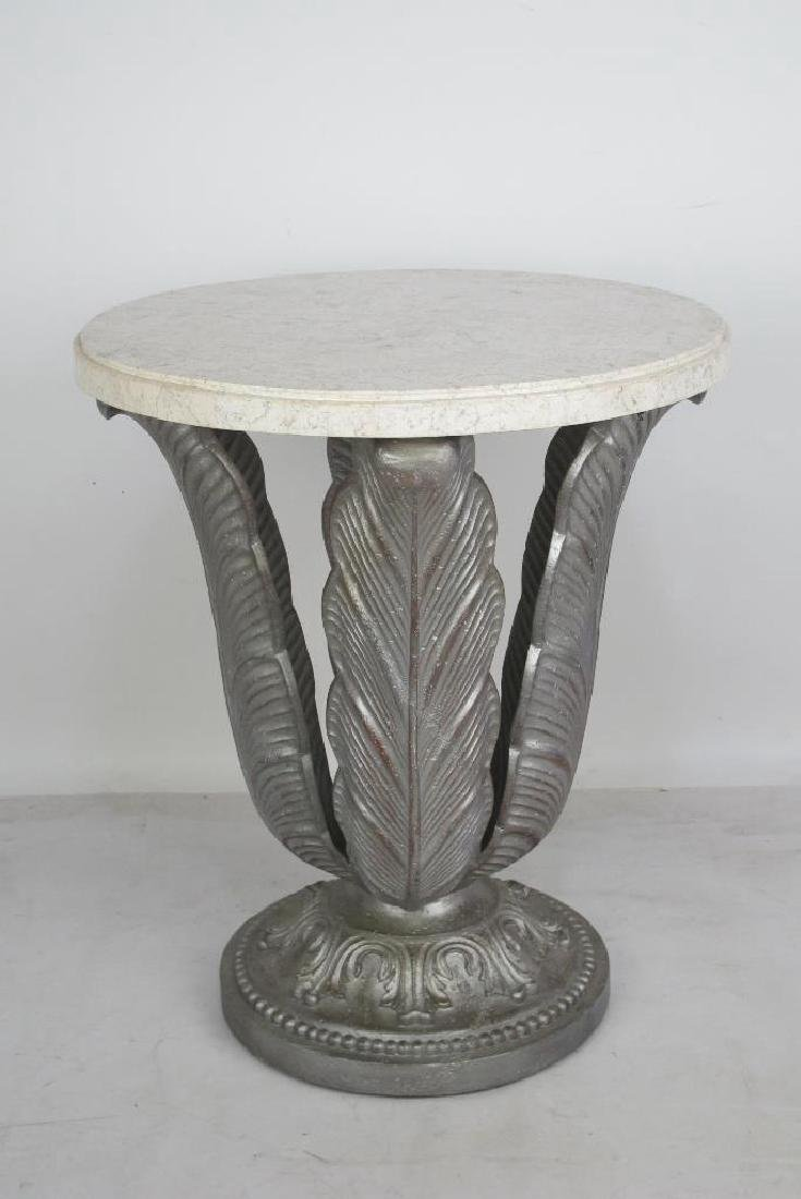 Marble Top Silver Stand