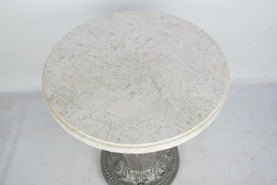 Marble Top Silver Stand - 2