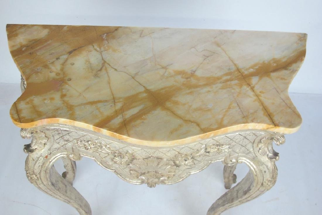 Italian Silver Gilt Carved Wood Console - 2