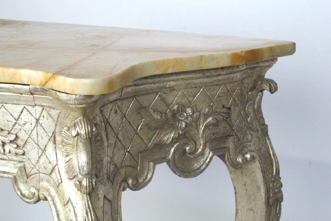 Italian Silver Gilt Carved Wood Console - 5