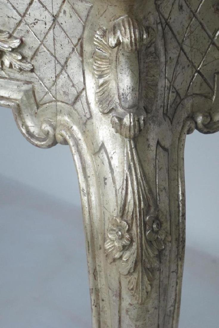 Italian Silver Gilt Carved Wood Console - 6