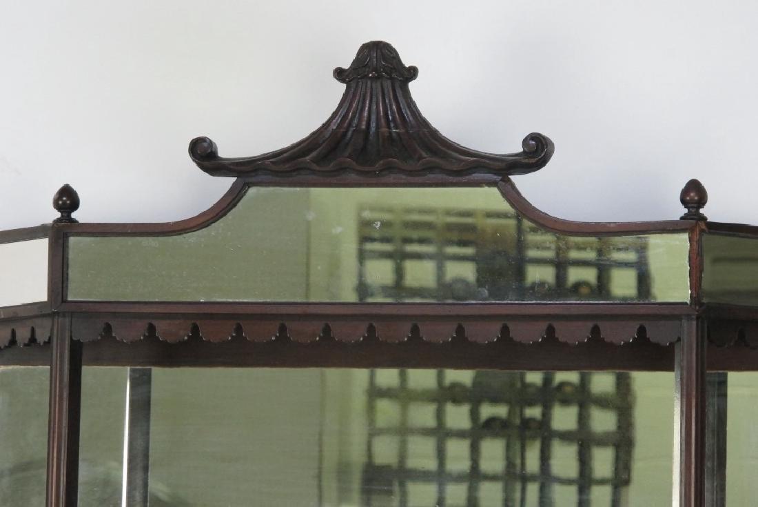 Mahogany Hanging Curio Shelf - 4