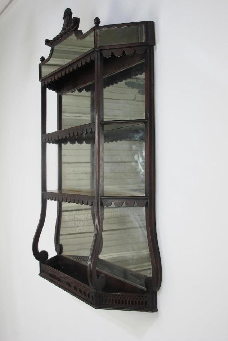 Mahogany Hanging Curio Shelf - 5
