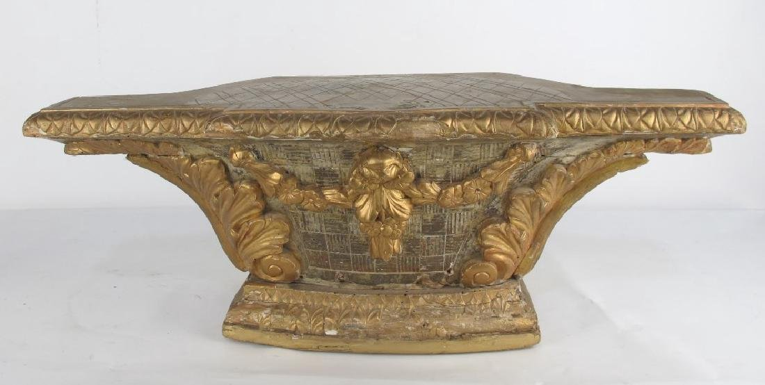 18th C. Carved and Gilt Wood Altar