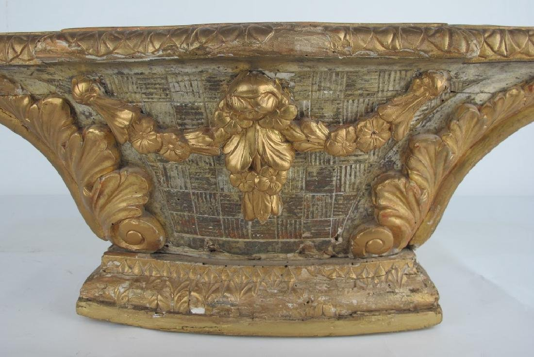 18th C. Carved and Gilt Wood Altar - 4