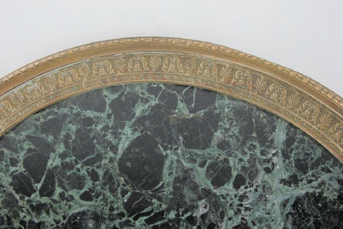 19th C. Empire Bronze & Marble Plate - 3