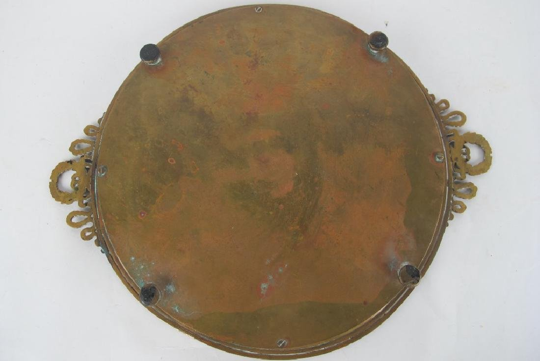 19th C. Empire Bronze & Marble Plate - 5