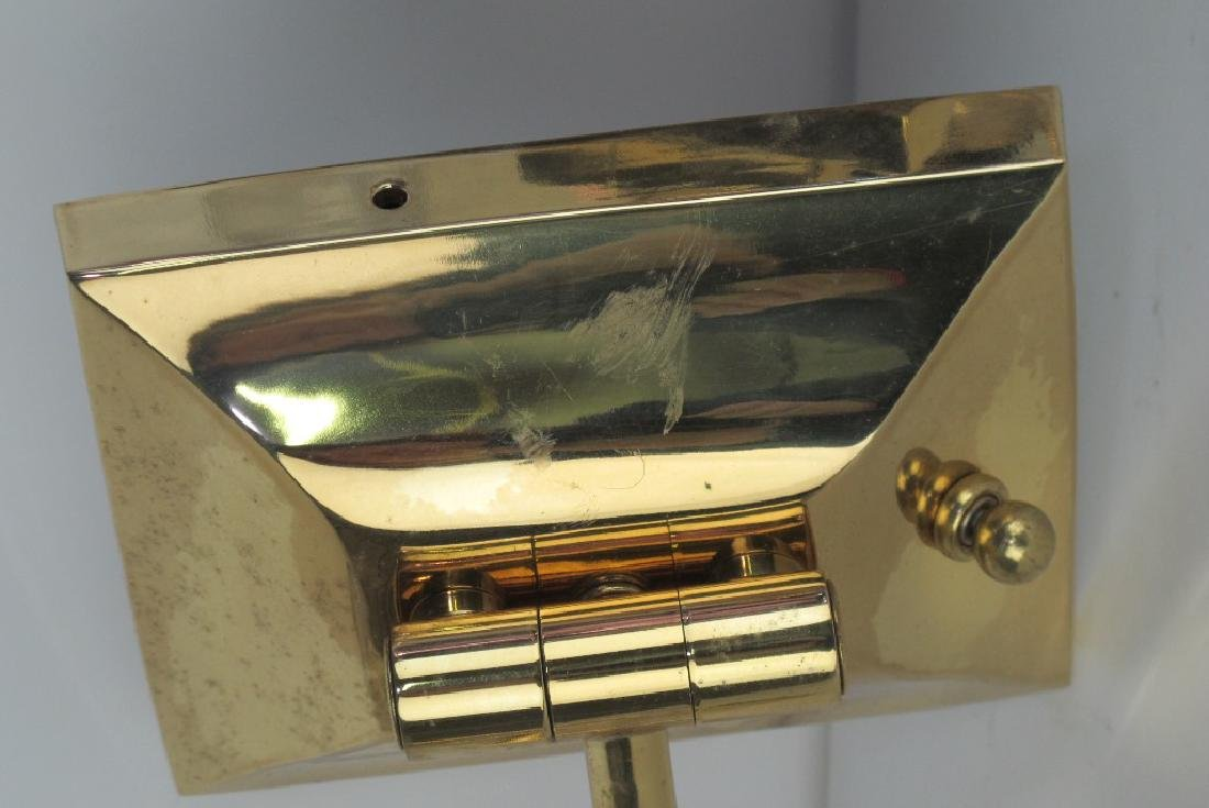Pair of Brass Trumpet Form Wall Sconces - 4