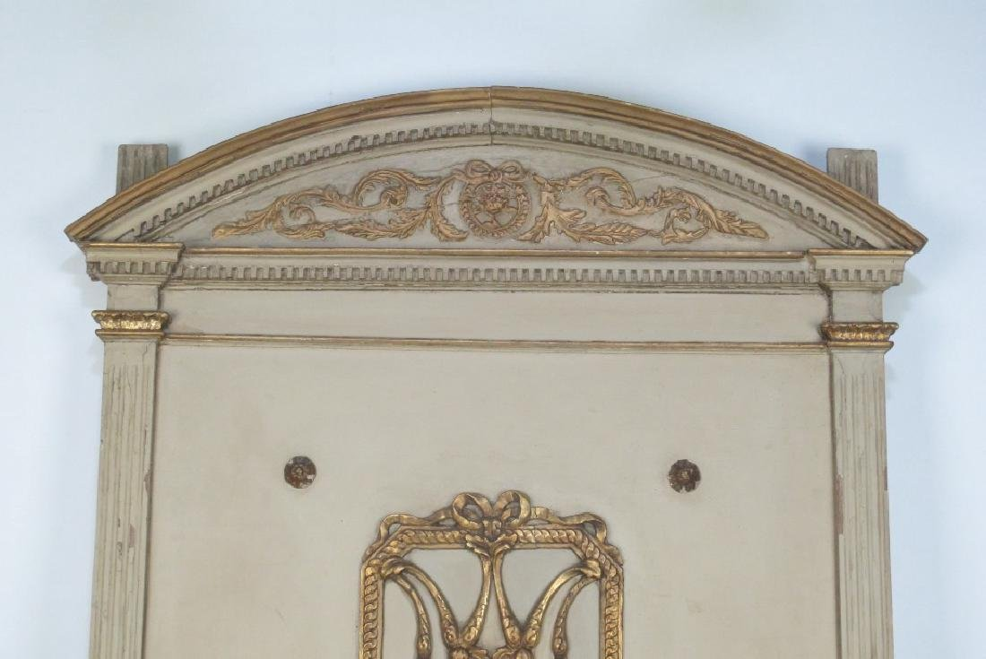 French Carved Gilt and Painted Headboard - 2