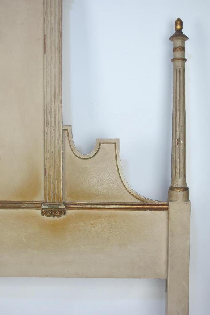 French Carved Gilt and Painted Headboard - 5