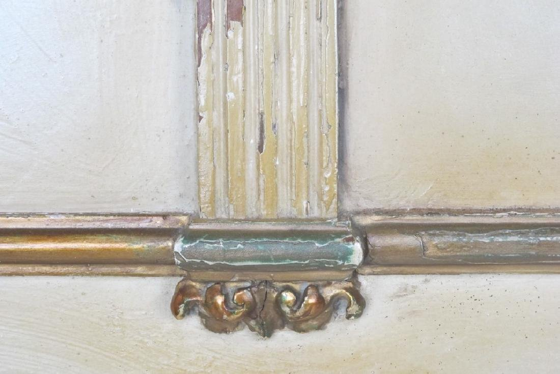 French Carved Gilt and Painted Headboard - 8