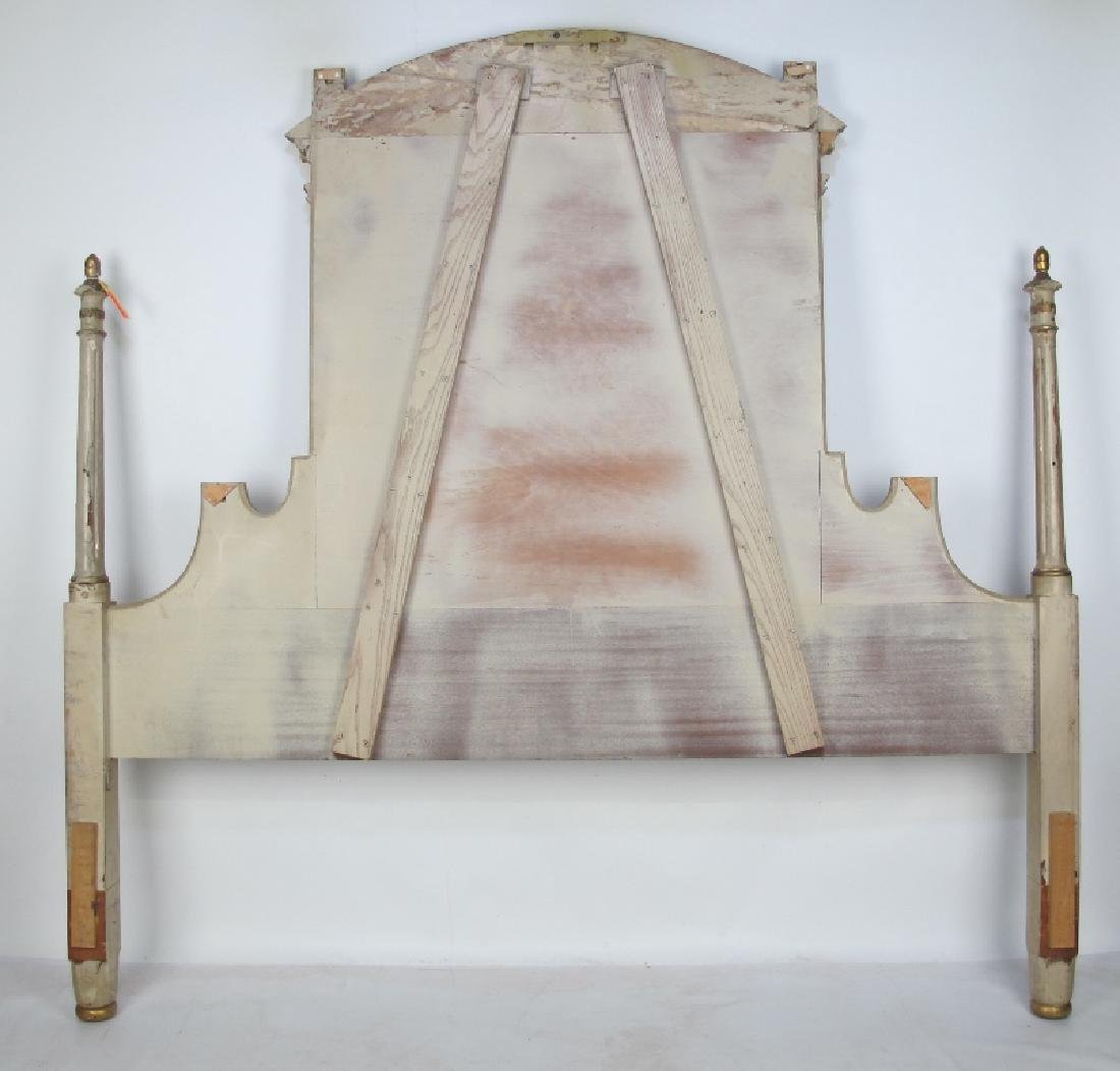 French Carved Gilt and Painted Headboard - 9