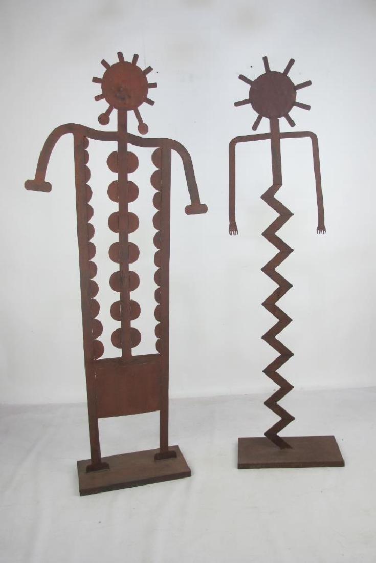 Two Iron Art Figures