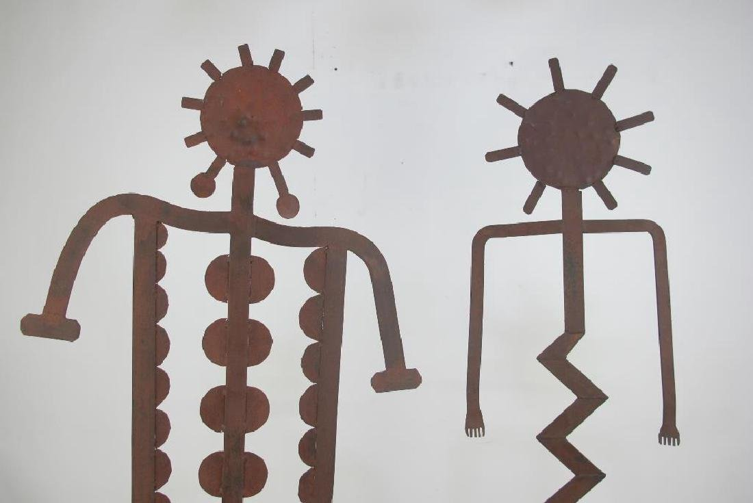 Two Iron Art Figures - 2