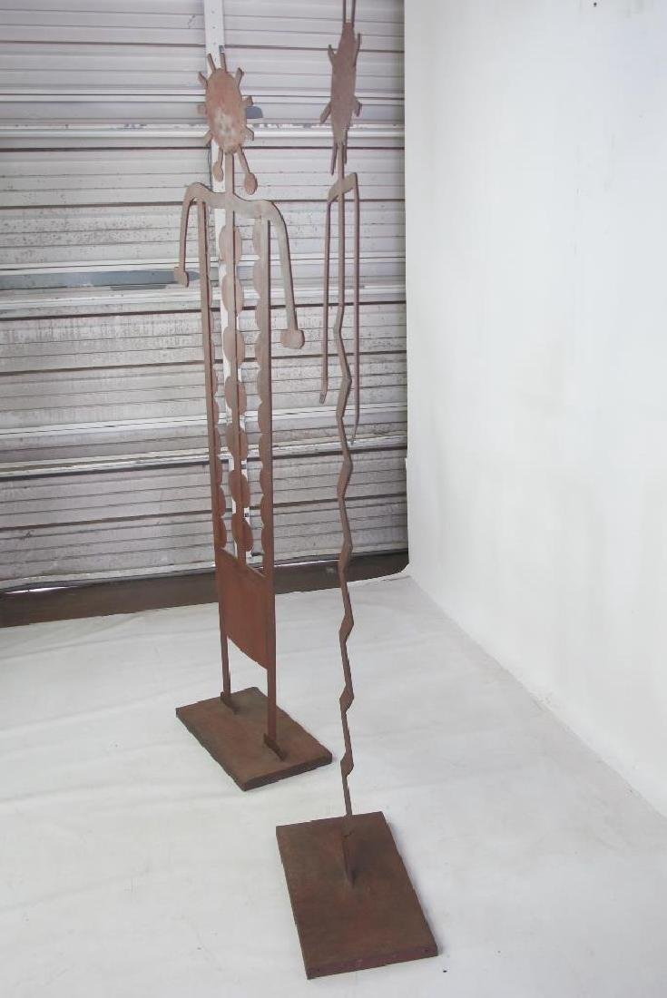 Two Iron Art Figures - 6