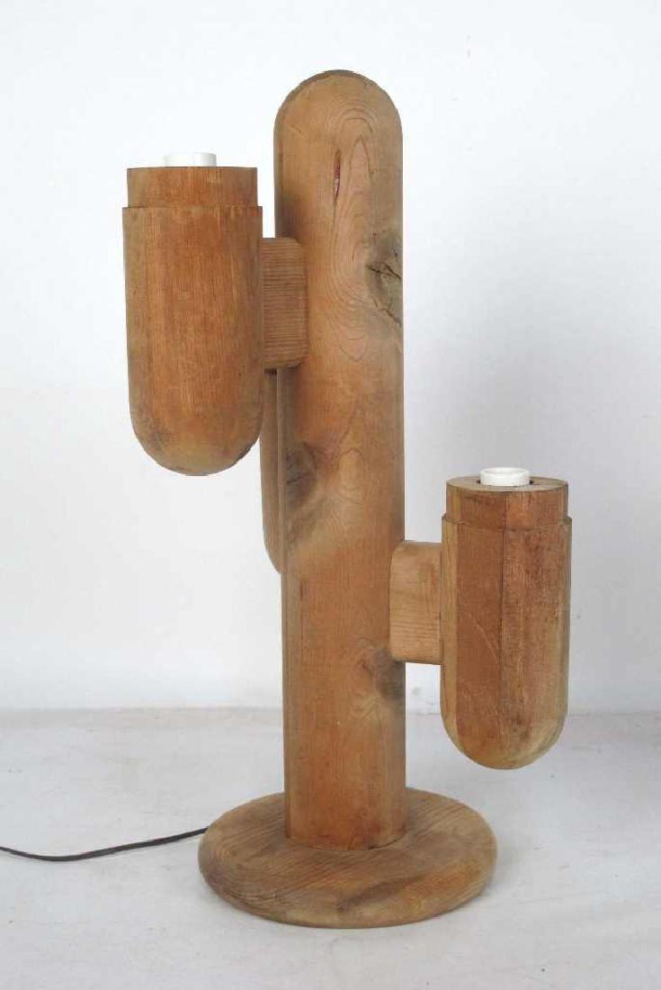 Pair Mid Century Cactus Lamps - 2