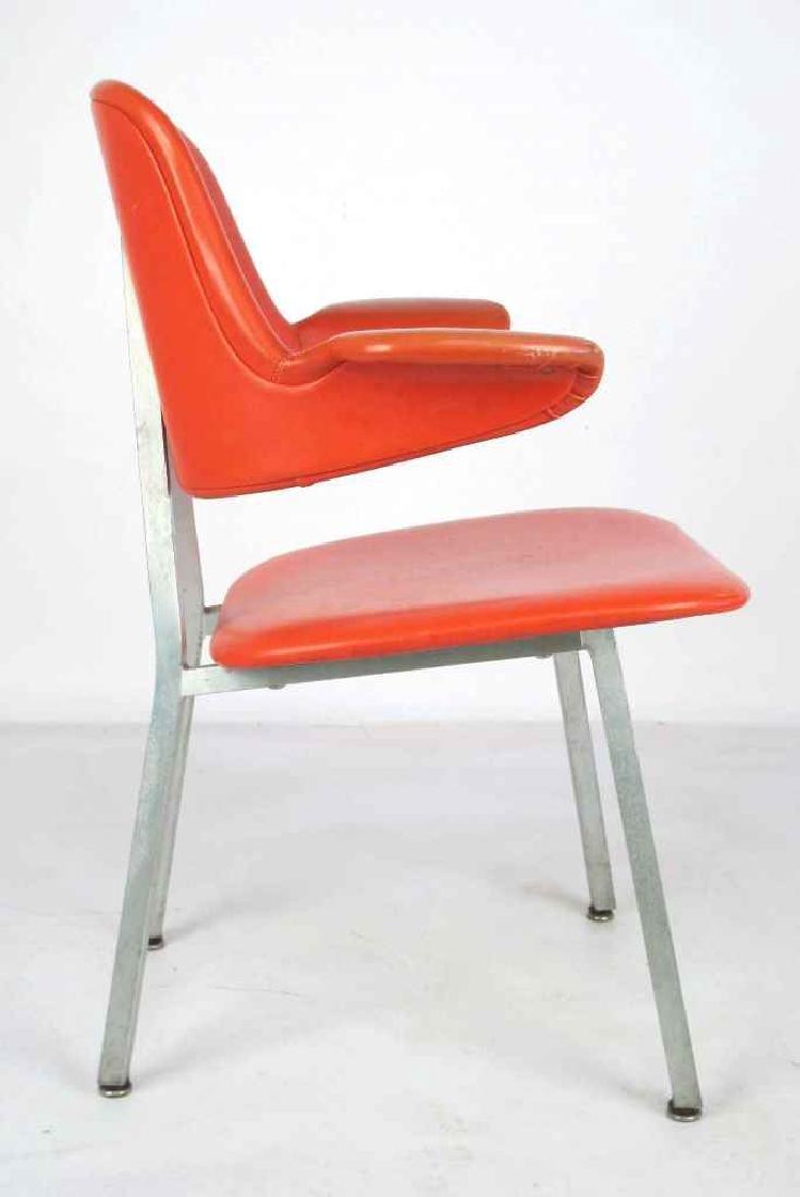 Shaw Walker Vinyl Mid Century Chair - 6