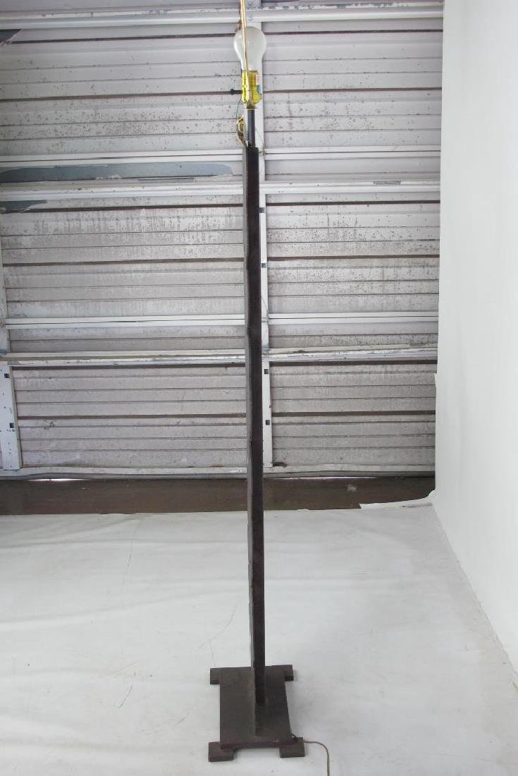 Folk Art Iron Floor Lamp - 5