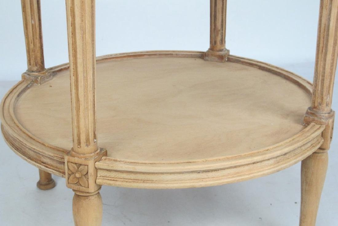 French Bleached Walnut Marble Top Table - 6