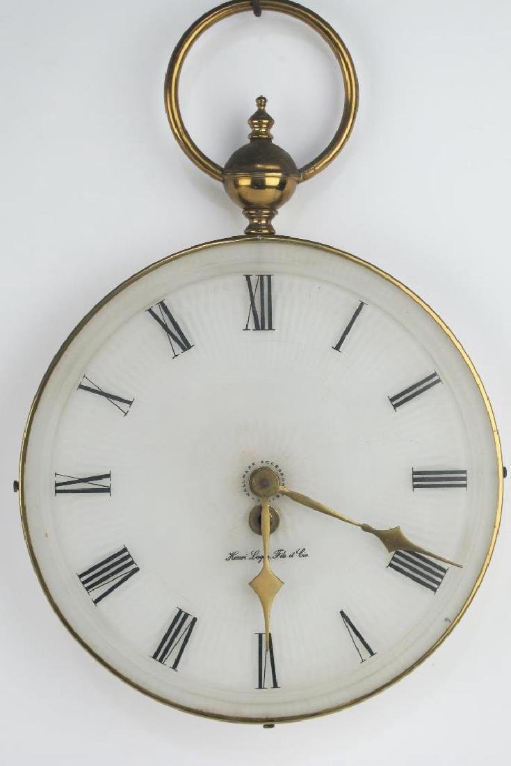 Two Vintage Pocket Watch Style Wall Clocks - 2