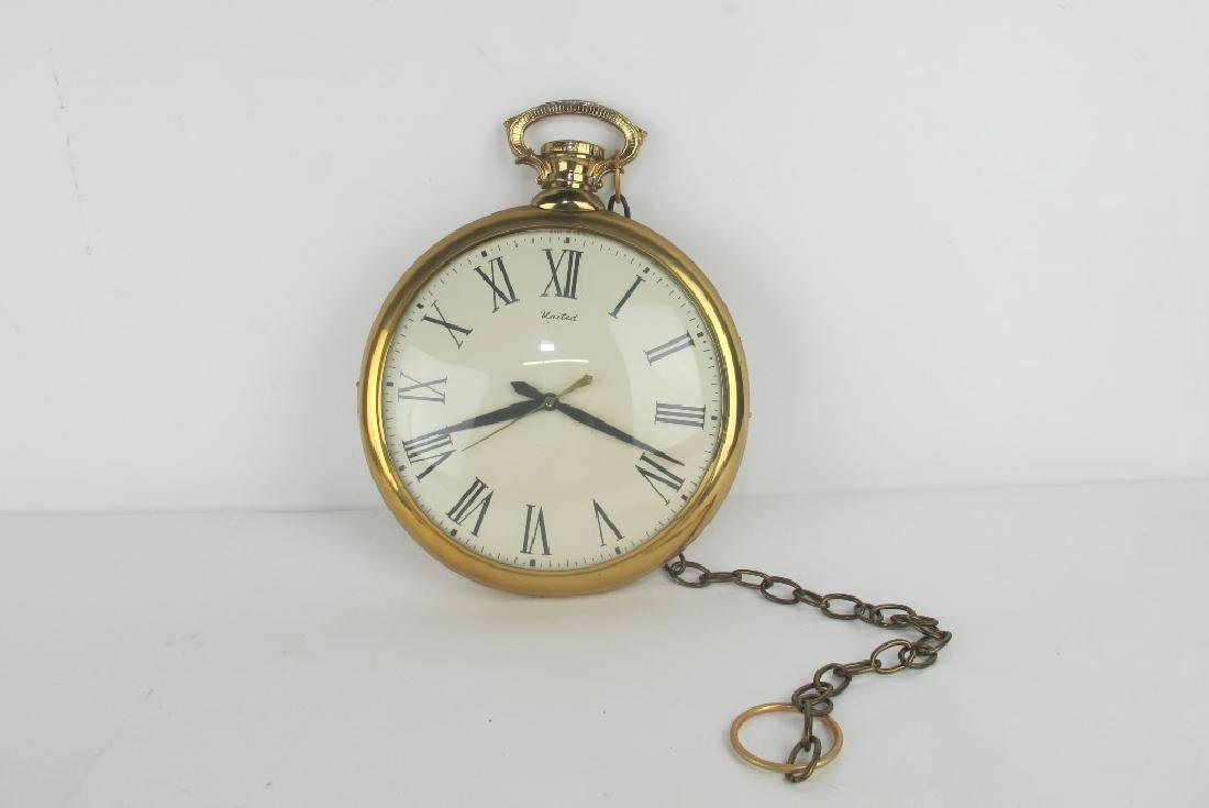 Two Vintage Pocket Watch Style Wall Clocks - 8