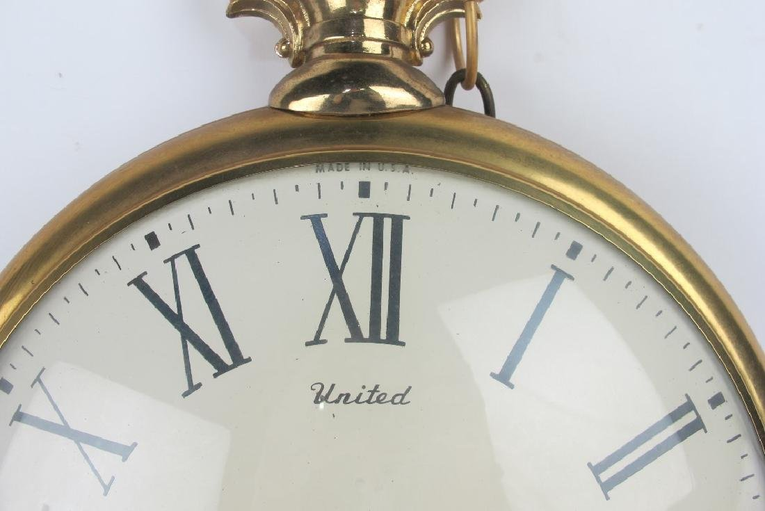 Two Vintage Pocket Watch Style Wall Clocks - 9