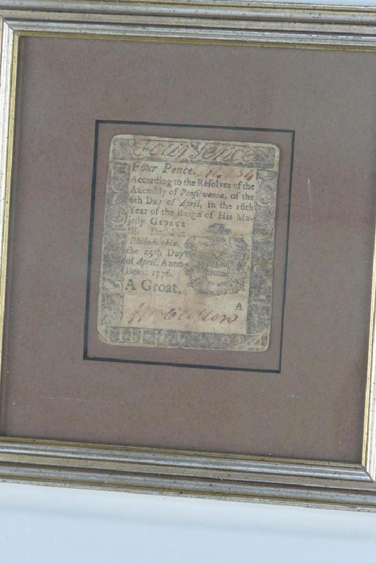 Four Pence Colonial Note Dated 1776 - 2