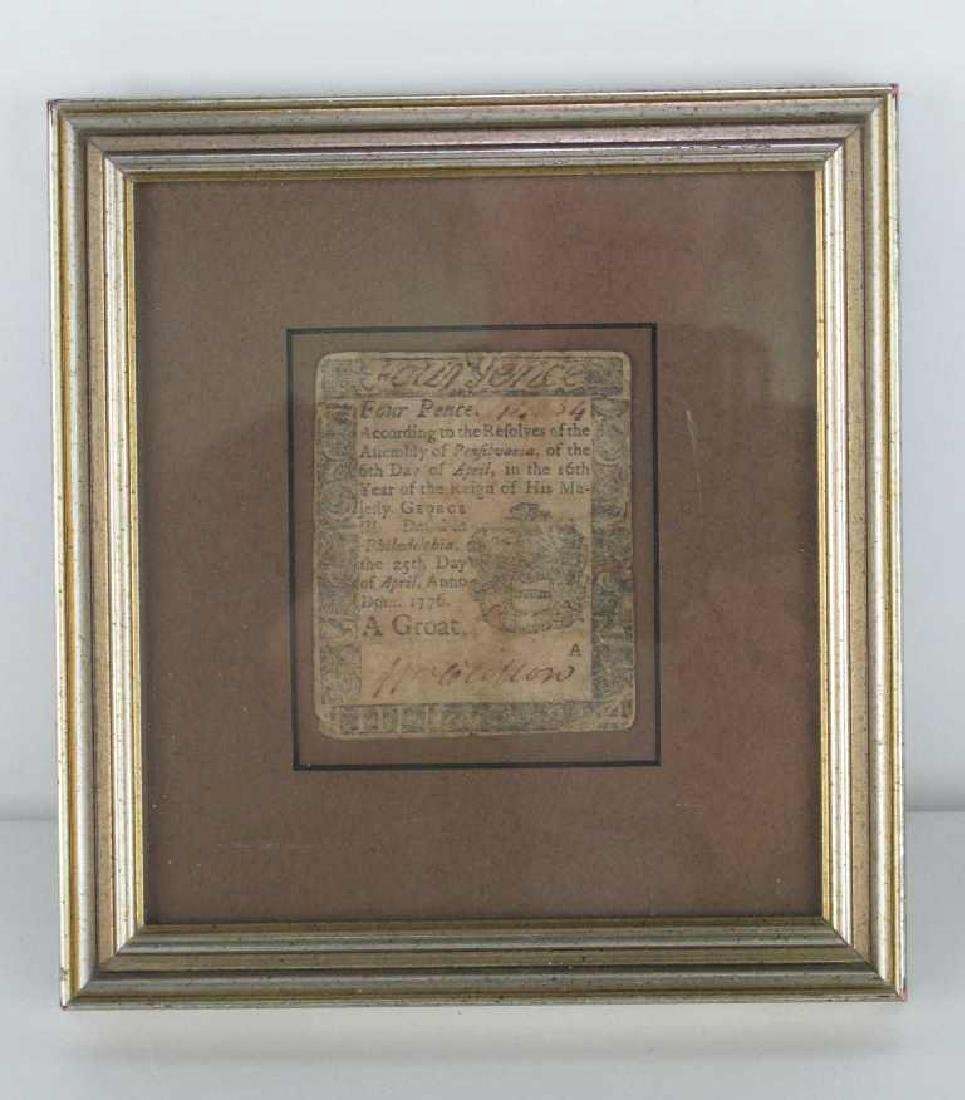 Four Pence Colonial Note Dated 1776 - 3