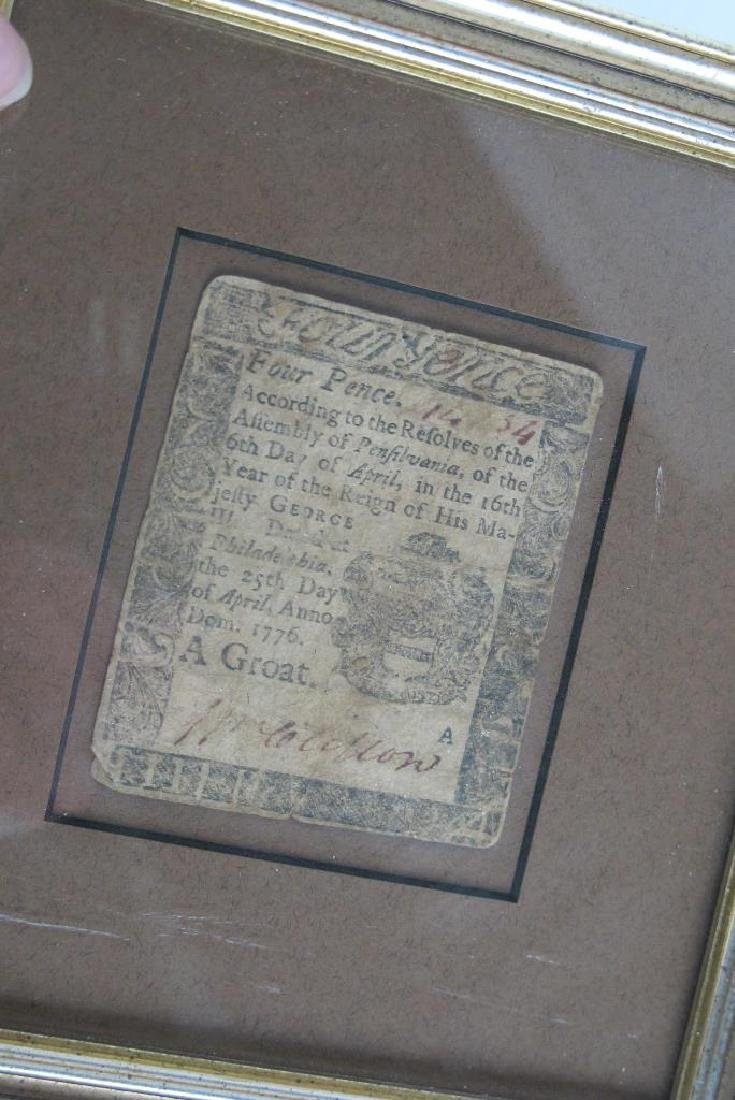 Four Pence Colonial Note Dated 1776 - 4