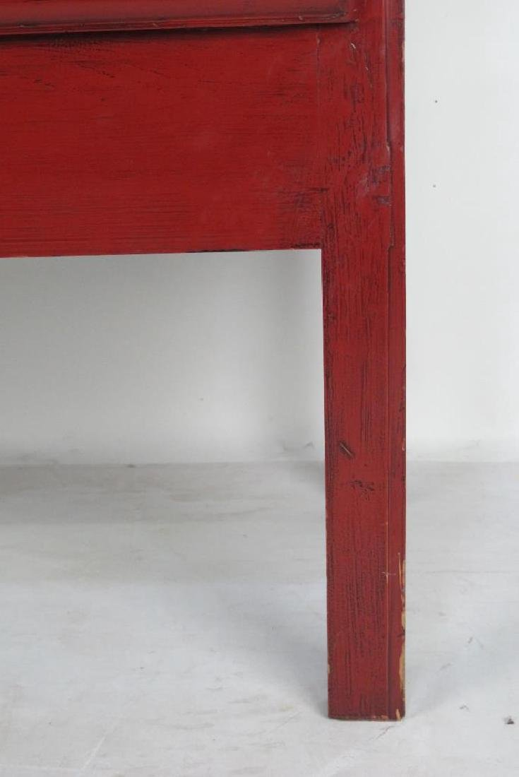 Red Chinese Cabinet with Brass - 2